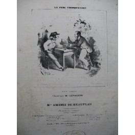 DE BEAUPLAN Amédée Le Père Trinquefort Chant Piano ca1840