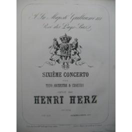 HERZ Henri Sixième Concerto Piano XIXe siècle