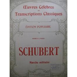 SCHUBERT Franz Marche Militaire op 51 No 1 Piano 4 mains