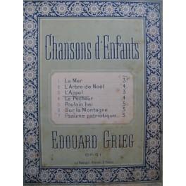 GRIEG Edvard L'Appel Chant Piano ca1895