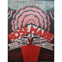 FRIML Rudolf Chant Indien Chant Piano 1925
