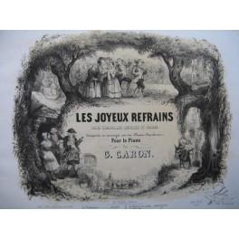 CARON G. Les Joyeux refrains Gai Gai Marions Nous Piano XIXe siècle