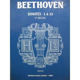 BEETHOVEN Sonates 1 à 15 Piano 1992