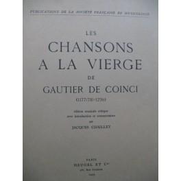 DE COINCI Gautier Les Chansons à la Vierge 1959