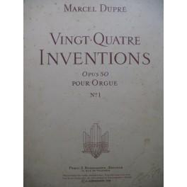 DUPRÉ Marcel Vingt-quatre Inventions op 50 No 1 1956