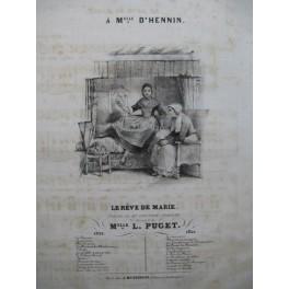PUGET Loïsa Le Rêve de Marie Chant Piano ca1840