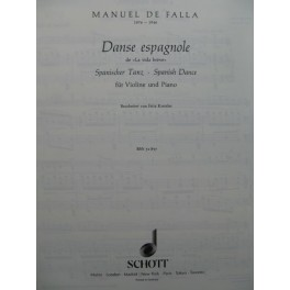 DE FALLA Manuel Danse Espagnole Violon Piano