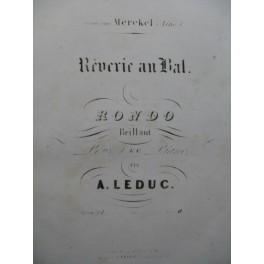 LEDUC Alphonse Rêverie au Bal Piano XIXe siècle