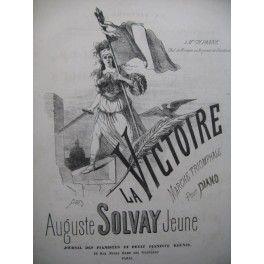 SOLVAY Jeune Auguste La Victoire Piano
