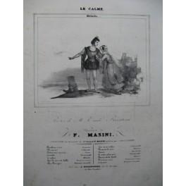 MASINI F. Le Calme Chant Piano ca1830