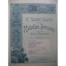 SAINT-SAËNS Camille La Brise Mélodie Persane Chant Piano 1892