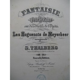 THALBERG S. Fantaisie Piano ca1857