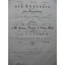 LATOUR T. Air Ecossais Piano ca1820