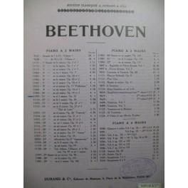 BEETHOVEN Sonate No 11 Piano 1930