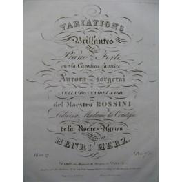 HERZ Henri Variations Brillantes Piano ca1825