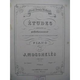 MOSCHELES Ignace Etudes ou Leçons de Perfectionnement Piano XIXe