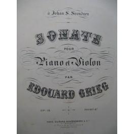 GRIEG Edvard Sonate op 13 Violon Piano 1880