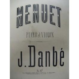 DANBÉ Jules Menuet op 30 n° 2 violon piano