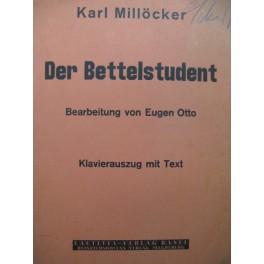 MILLÖCKER Karl Der Bettelstudent Opéra Chant Piano 1935