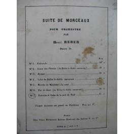 REBER Henri Ent'acte et Valse de la Nuit de Noël Orchestre 1876