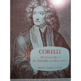 CORELLI Arcangelo Sonaten 9 und 10 Flûte à bec Basse continue
