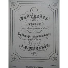 SINGELÉE J. B. Les Mousquetaires de la Reine Halévy Violon Piano ca1850