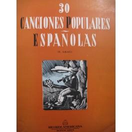 Canciones Populares Espanolas 30 Pièces Chant Piano 1947