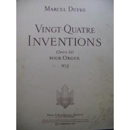 DUPRÉ Marcel Vingt-quatre Inventions op 50 No 2 Orgue 1956