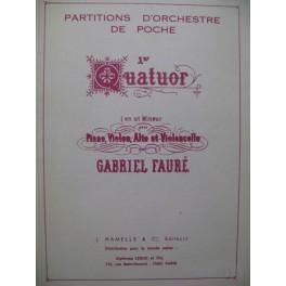 FAURÉ Gabriel Quatuor No 1 Piano Violon Alto Violoncelle 1984