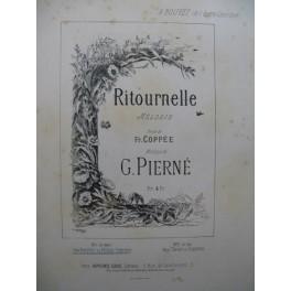 PIERNÉ Gabriel Ritournelle Mélodie Chant Piano ca1887