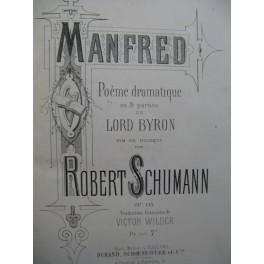 SCHUMANN Robert Manfred Opera Chant Piano ca1875