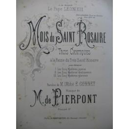 DE PIERPONT M. Trois Cantiques Chant Piano XIXe