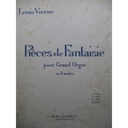 VIERNE Louis Pièces de Fantaisie 4e Suite Orgue 1927
