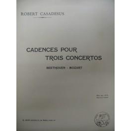 CASADESUS Robert Cadences pour 3 Concertos 1932