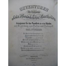 MENDELSSOHN Sommernachtstraum Ouverture Piano 4 mains Violon Violoncelle ca1875