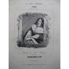 BURGMULLER Frédéric Lydda Chant Piano ca1840