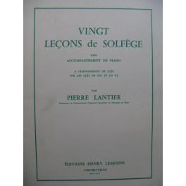 LANTIER Pierre Vingt Leçons de Solfège Chant Piano 1958