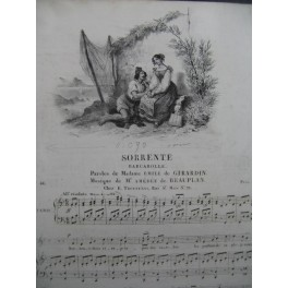 DE BEAUPLAN Amédée Sorrente Chant Piano ca1833