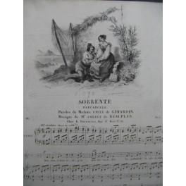 DE BEAUPLAN Amédée Sorrente Chant Piano ca1833