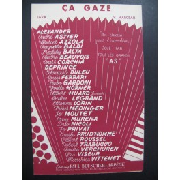 Ca Gaze Java V. Marceau Accordéon 1954