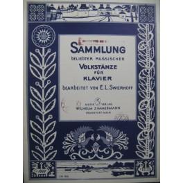 SWERKOFF E. L. Sammlung beliebter Russischer Volkstänze Piano