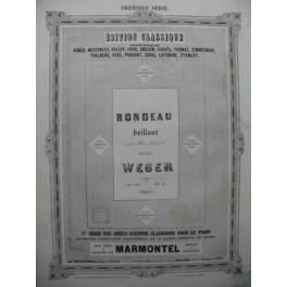 WEBER Rondeau en Mi b Piano ca1860