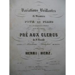 HERZ Henri Variations Brillantes Piano XIXe siècle