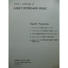 Elisabeth Roger's Virginal Book 15 Pièces Piano ou Clavecin