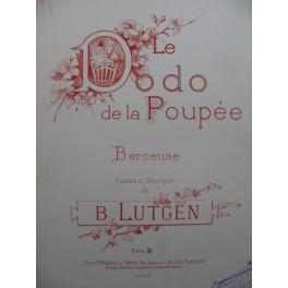 LUTGEN B. Le Dodo de la Poupée Chant Piano