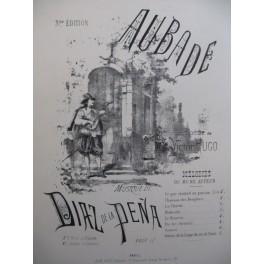 DIAZ E. Aubade Victor Hugo Chant Piano XIXe