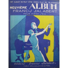 9e Album Salabert 25 Succès Piano 1925