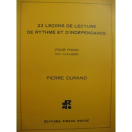 DURAND Pierre 22 Leçons de Lecture de Rythme et d'Indépendance Piano