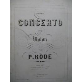 RODE Pierre Concerto No 1 Violon Piano ca1850