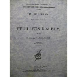 SCHUMANN Robert Feuillets d'Album op 124 Piano